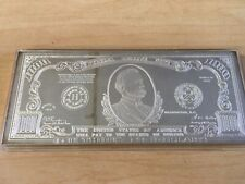 """$1000 Note currency style """"Half Pound"""" 8 troy oz .999 silver bar"""