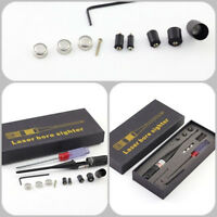 For Handguns Rifles 0.22 to 0.50 Red Laser Dot Bore Sight Kit Bore Sighter