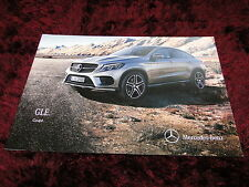 Mercedes-Benz GLE Coupe Launch Brochure 2015