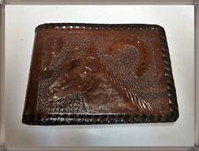 HKM Portemonnaie mit Pferd Abruck Leder Geldbörse schwarz Geldbeutel Damen