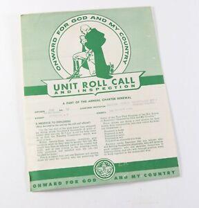 Vintage 1960's Sam Houston Council Unit Roll Call Inspection Boy Scouts BSA