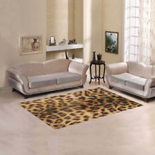 "Leopard Fur Printing Area Rug size 60""x 39"""