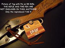 Daisy BB Gun Red Ryder 111 Model 40 Air Rifle Hang Tag - Repro - Plymouth MI
