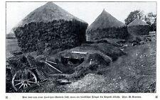 Vor Fliegersicht getarnte Haubitzen-Batterie Historische Aufnahme von 1916