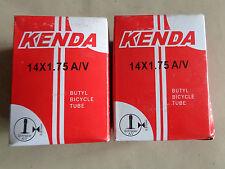 PAIR TWO 2 X KENDA BIKE INNER TUBES 14 x1.75 WITH SCHRADER VALVES