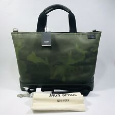 Jack Spade Coal Bag Shopping Bag Genuine Leather.Camo Dots Army Green MSRP$498