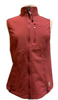 Carhartt Vest Womens S 4/6 Pink Softshell Nylon Full Zip Front Fleece Lined