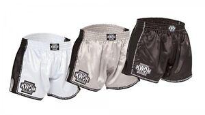 Evolution Box Muay Thai Short. Kwon. Muay Thai. K1. XS-XL. Schwarz/Weiß/Silber