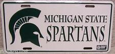 NCAA Aluminum License Plate Michigan State Spartans NEW