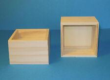 1 Holzbox ohne Deckel 8 x 8cm