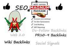 Magnum SEO with Wiki Links, High PR , WEB 2.0 High PA DA etc, plus 30 days Ping.