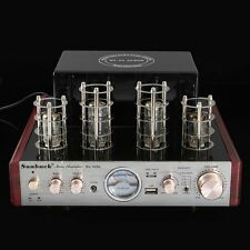 Bluetooth Hifi Stereo Hybrid Tube Power Amplifier AMP 30W+30W USB Aux 220V 3A