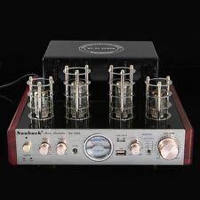 Bluetooth Hifi Stereo Hybrid Tube Power Amplifier AMP 30W+30W USB Aux 220V 3A