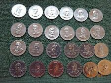 24 Piece Lot Of Vintage Shell Oil Co. Mr. President Coin Game Tokens.