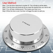 Stainless Steel Cooking Timer with Magnetic Base Manual Mechanical Cooking Tool
