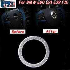 Steering Wheel Logo Decor Crystal Diamond Ring for BMW 328i 528i 535i F10 M5 X6