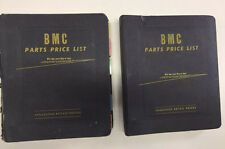 BMC Parts Catalog and Price List - 2 volumes from the 1960's