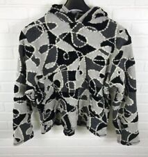 Turtle Fur Large Women Vermont Collection Sweater With Hood Black,White,Gray RA