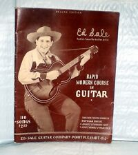 Rapid Modern Course in Guitar by Ed Sale, 1949, pb, vintage guitar lesson book
