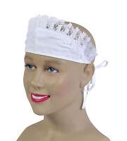 French Maid Cap w/ Ties One Size Fancy Dress Hat