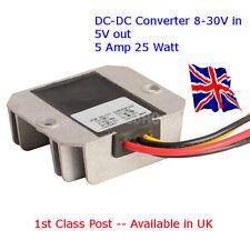 Bloc d'alimentation DC-DC Convertisseur 12V/24V à 5 V 5 A - 25 W Arduino-Raspberry Pi