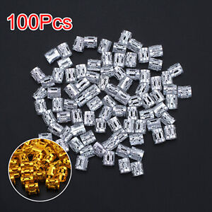 100pcs Hair Jewelry Braid Rings Cuffs Pendants Dreadlocks Beads Accessories