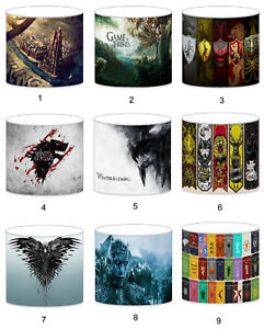 Game of Thrones Lampshade Ideal To Match Bedding Duvets Curtains Cushion Covers