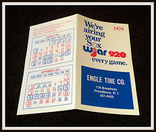 1979 BOSTON RED SOX ENGLE TIRE COMPANY BASEBALL POCKET SCHEDULE FREE SHIPPING