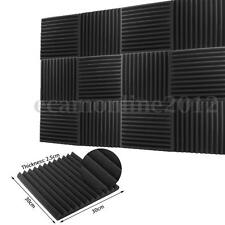 2.5x30x30cm Soundproofing Studio Acoustic Wedge Foam Sound Absorption Wall Panel