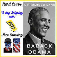 A Promised Land by Barack Obama (Hardcover, 2020) with USA face covering