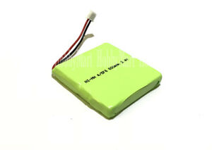 2.4V Ni-MH 600mAh 4/SF6 2 Cell Home Phone Rechargeable Battery 1.5mm 2Pin Plug