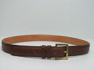 Coach 7620 Brown Cowhide Leather Solid Brass Belt Size Men's 36 Made in USA