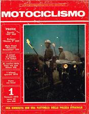 MOTOCICLISMO 01/1973 (SUZUKI GT 350, BULTACO SHERPA 350, MOTO GUZZI STORNELLO)