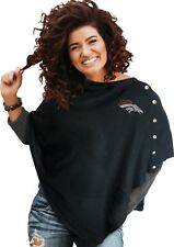 DENVER BRONCOS BLACK OUT  PONCHO LICENSED NEW  GREAT GIFT ONE SIZE