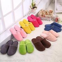 Men Women Soft Warm Indoor Slippers Cotton Sandal House Home Anti-slip Shoes