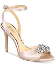 size 6.5 Badgley Mischka Hayden Champagne Ankle Strap Jewel Pump Wedding Sandals