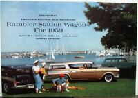 1959 AMC Rambler Station Wagon 6 Rebel V8 Ambassador American Sale Folder Brochu