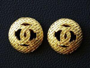 BOUCLES D'OREILLES CHANEL CLIPS numéroté