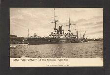 POSTCARD:  HMS CENTURION - BRITISH ROYAL NAVY PRE-WW-1 BATTLESHIP - unused