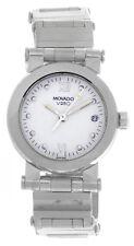 Movado Vizio Women's Black Dial Silver-Tone Bracelet Wrist Watch 24mm