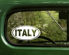 2 ITALY DECALs Oval Sticker For Bumper Truck Car Window Rv Jeep 4x4 Laptop