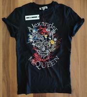 Alexander Mcqueen Botanical Logo Print MCQ T-shirt - BLACK (S,M,L,XXL)