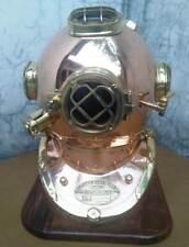 Latón Antiguo Us Navy Mark V de latón sólido acero buceo casco para buzos Buceo Marine