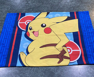 Pokemon Pikachu Double Sided Standard Pillowcase **Excellent Condition**