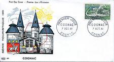 FRANCE FDC - 405 1314 1 COGNAC 7 10 1961