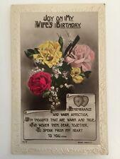 Vintage Postcard - Rotary #R.11-25 - My Wife's Birthday - Posted 1924 Bristol