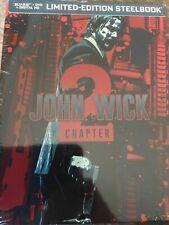 John Wick Chapter 2 ( Blu ray + DVD SteelBook) NEW Limited Edition