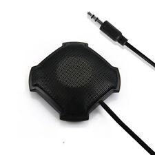 360° 3.5mm Omnidirectional Condenser Boundary Microphone Stand-Held for Meeting