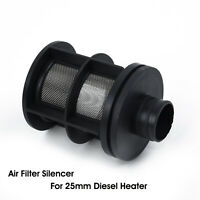 Black Air Intake Filter Accessory Parts For 25mm Manifold Diesel Parking Heater