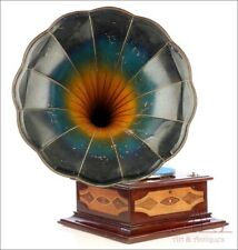 Antique Odeon Gramophone-Phonograph with Inlaid Decoration. Germany, Circa 1915